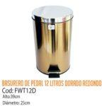 Basurero Metálico de Pedal 12 Litros FWT12D/CSS