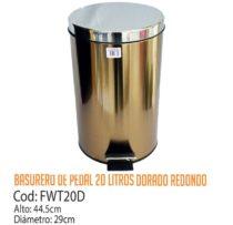 Basurero Metálico de Pedal 20 Litros FWT20D/CSS