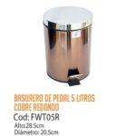 Basurero Metálico de Pedal 5 Litros FWT05R/CSS