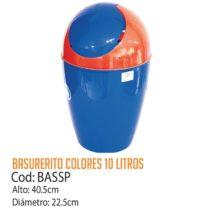 Basurero Plástico 10 Litros Cod: BASSP/CSS