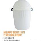 Basurero Plástico 23 Litros Cod: 28410/CSS