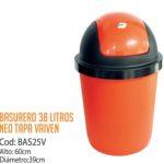 Basurero Plástico 38 Litros Cod: BAS25V/CSS