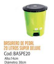 Basurero Plástico de Pedal 20 Litros Cod: BASPE20/CSS