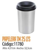 Basurero Plástico 25 Litros Cod: 11780/CSS