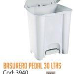 Basurero Plástico de Pedal 30 Litros Cod: 3940/CSS