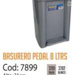 Basurero Plástico de Pedal 8 Litros Cod: 7899/CSS
