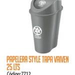 Basurero Plástico 25 Litros Cod: 7712/CSS