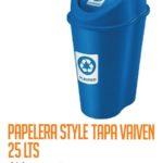 Basurero Plástico 25 Litros Cod: 7713/CSS