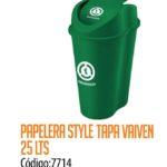 Basurero Plástico 25 Litros Cod: 7714/CSS