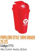 Basurero Plástico 25 Litros Cod: 7715/CSS