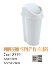 Basurero Plástico 10 Litros Cod: 8779/CSS