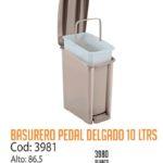 Basurero Plástico de Pedal 10 Litros Cod: 3981/CSS