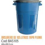 Basurero Plástico 105 Litros Cod: BAS105/CSS