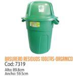 Basurero Plástico Residuos Orgánicos 100 Litros Cod: 7319/CSS