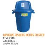 Basurero Plástico Residuos Plásticos 100 Litros Cod: 7318/CSS